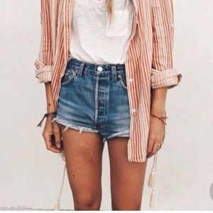 Levi's high waisted wedge shorts